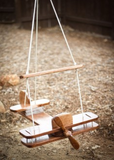 Kid's Outdoor Airplane Swing